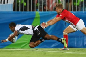 Fiji Rugby Try 300x200 Stories from the Olympics