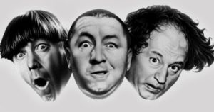 3 laws of comedy - 3 stooges